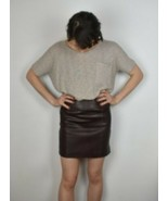 Mango Size Small 100% Real  Womens Mini Skirt  Rusty Dark Brown - $28.79