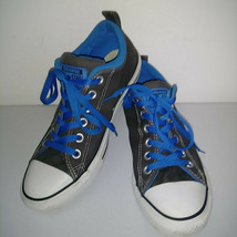 CONVERSE ALL STAR Gray Blue White Low Top Shoes Thick Tongue Mens 7 Womens 9 image 2