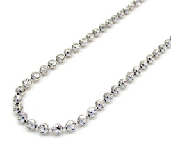 "2MM 10KT White Gold Diamond Cut Moon Chain Necklace 16""-30"" Inches - $247.00+"