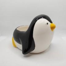 Penguin Animal Planter Grow Kit, ceramic pot with soil and mint herb seeds image 5