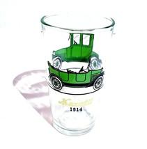 "Hazel Atlas Glass Automobile 5.25"" Tumbler Green 1914 Maxwell 1915 Stude... - $9.41"