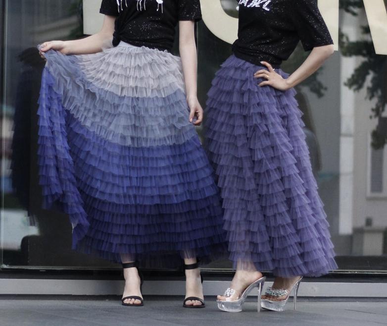 Purple tiered skirt 5