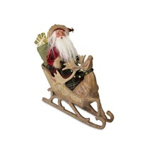 "Byers' Choice 13"" Limited Edition Santa in Sleigh Reindeer Christmas Tab... - $191.81"