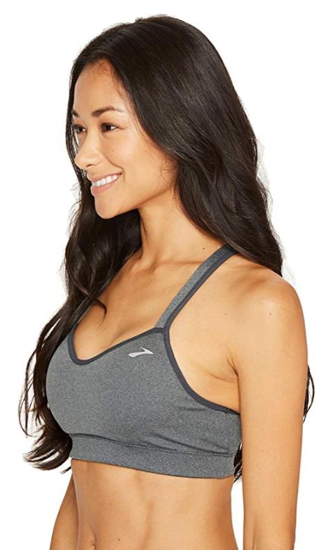Brooks UpRise Crossback Size M Medium Women's Sports Bra Asphalt 300614020.030