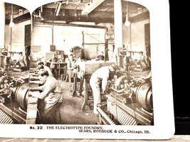 Vintage Stereoscope Card Sears & Roebuck #32  The Electrotype Foundry - $4.89