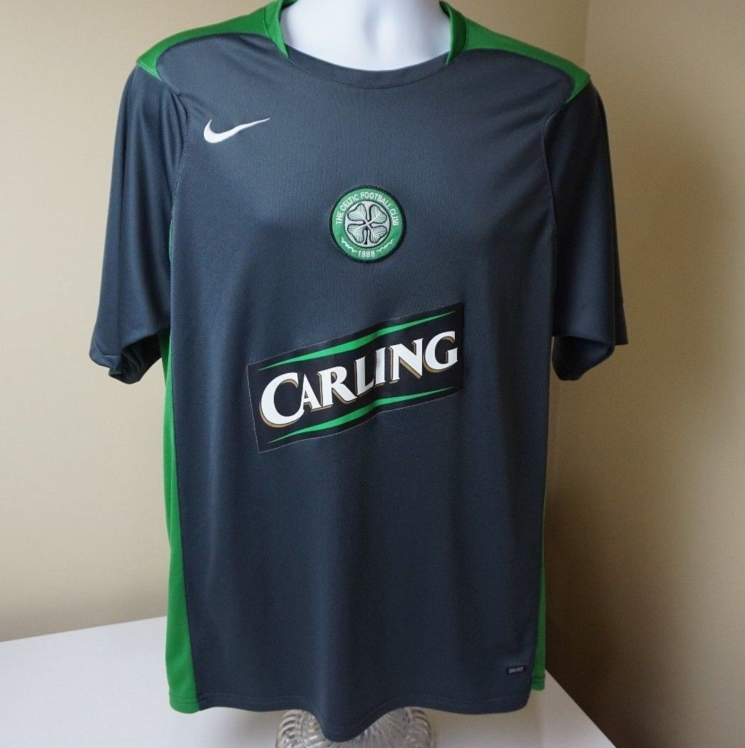 669c01337 S l1600. S l1600. Celtic Soccer Jersey FC Football Club Scotland Nike  Carling shirt Large Dri Fit