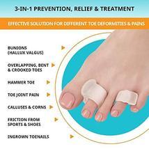 Toe Separators 4-Pack - Big and Pinky Straightener, Spacer, Spreader, Corrector  image 3