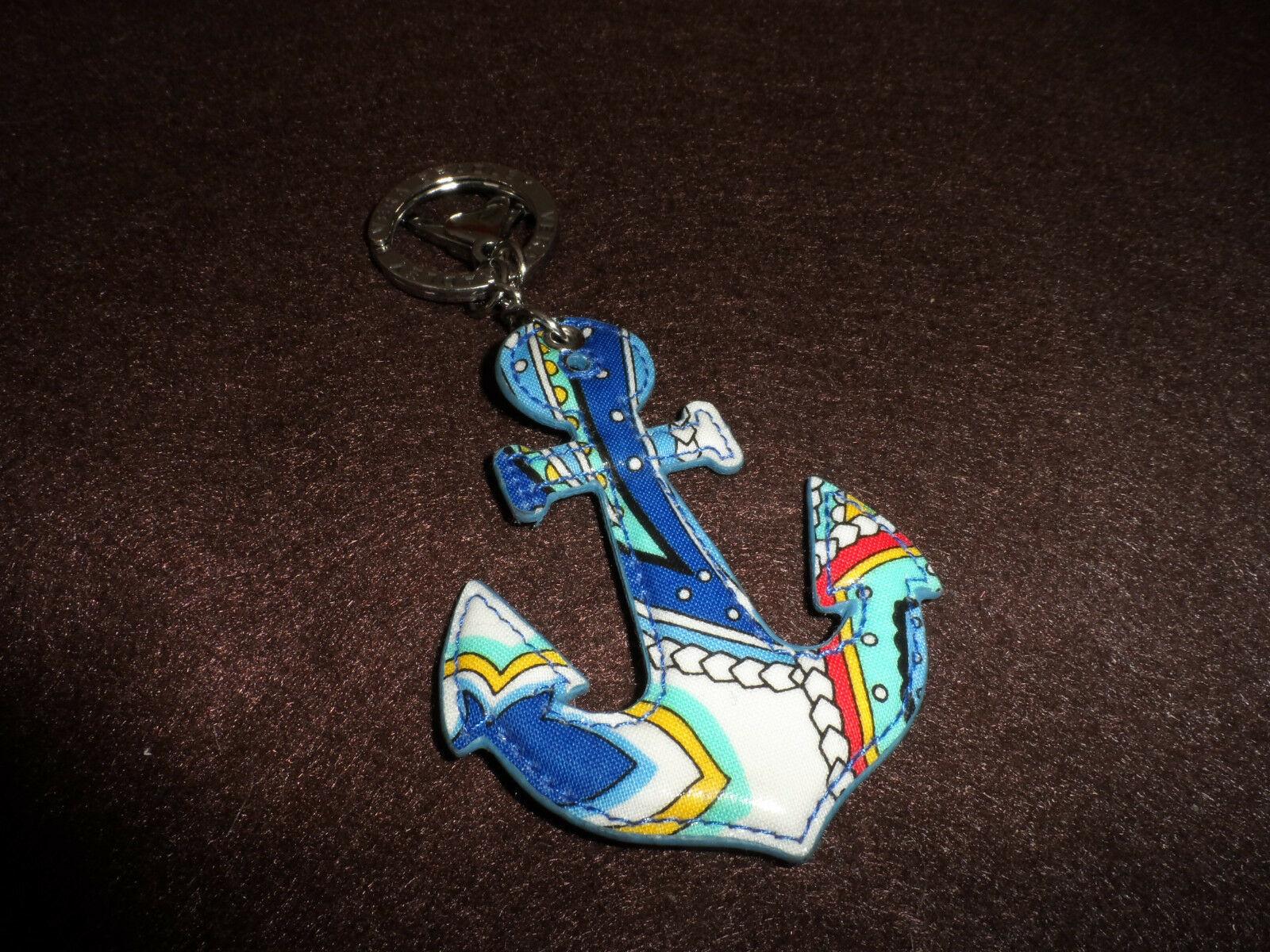 Vera Bradley Marina Paisley Seashore Anchor keychain NWOT