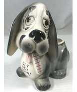 Get Well Soon Planter Basset Hound Dog with Thermometer Nancy Pew Japan ... - $19.34