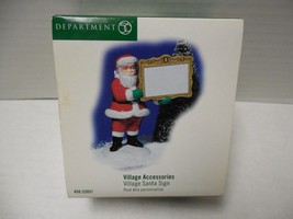 Department Dept. 56 Village Accessories Village Santa Sign #53051 - $14.03