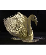 Stunning Swan Sculpture PNW Artist Original Work in Steel Torch Sculpted... - $69.25