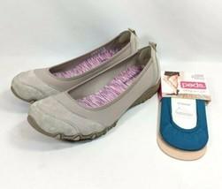 Skechers Bikers Skims Slip On Shoes Women's Sz 9/39 EU Gray Leather/Text... - $29.99