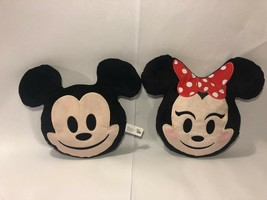 DISNEY EMOJI PILLOWS MINNIE MOUSE and MICKEY MOUSE CHARACTERS - $13.90