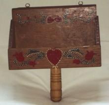 Vintage Wooden Scoop Wall Hanging Pocket Planter Spice Jar Rack Art Dis... - ₹1,462.11 INR