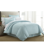 NEW 3 Piece Home Luxury Duvet Cover King /Cal King Aqua Light Blue Ultra... - $28.40