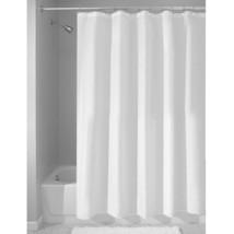 "InterDesign Set of 2 Mildew-Free White Fabric Shower Curtain/Liner (72"" x 72"") - $24.70"