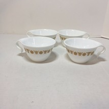 4 Cups Corning Ware Corelle Vtg Butterfly Gold Hook Handles - $12.59