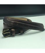 WESTERN WOMENS LEATHER BELT vintage Onyx Brighton M20725 size 40 brass b... - $39.55