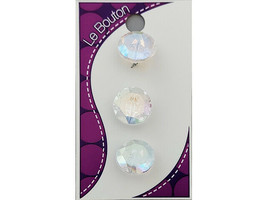 Blumenthal Le Bouton Crystal Clear Buttons, Set of 3 #1070