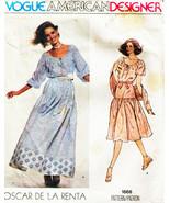 Vintage 1960s Misses' BLOUSE, SKIRT & BLOUSE Vogue Designer Pattern 1668... - $20.00