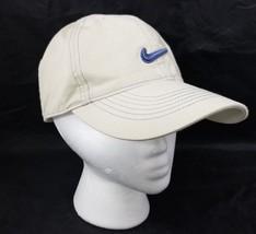 Nike Golf Baseball Cap Trucker Hat Tan Blue Adjustable 100% Cotton FREE ... - $16.44