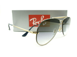 Ray-Ban Sunglasses RB3584N Blaze Aviator Gold Blue Gradient Mirror 9140/0S New - $139.00