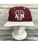 Vtg Texas AM Aggies Hat Maroon Fitted 7 3/8 Gig Em USA - $14.80