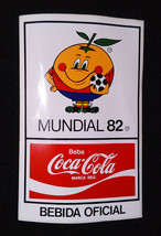 Vintage Sticker ✱ Coca Cola & Spain 82 Fifa World Cup ✱ Decal Soccer 80´s - #1 - $15.99