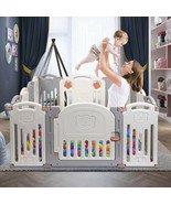 Folding Baby Playpen Baby Kids Fence Safety Play Yard Home Indoor Outdoor - $124.74
