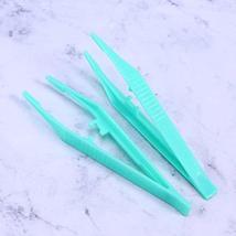 BinaryABC Disposable Plastic Tweezers Beads Medical Craft Tweezers,12PcsBlue and image 4