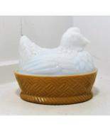 Avon Milk Glass Hen on a Nest - $13.00