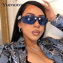 Yumomo Crystral Sunglasses Women Men Fashion Personlity Windshield UV Protection image 2