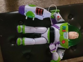 "Pixar Toy Story Thinkway Toys BUZZ LIGHTYEAR 12"" Action Figure RARE with... - $59.40"