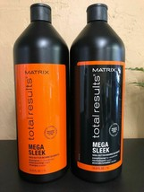 Matrix Total Results Mega Sleek Shampoo and Conditioner Duo 33.8 fl oz /... - $34.64