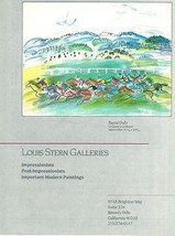 Raoul Dufy Horse Racing Artwork featured 1987 Louis Stern Galleries CA A... - $14.99