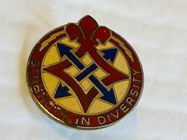 US Military 193rd Support Battalion Insignia Pin - Strength in Diversity - $10.00