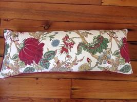 Pottery Barn Chintz Floral Long Cotton Linen Blend Lumbar Throw Cushion Pillow - $107.99