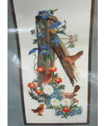 WonderArt Country Birds Flowers on Fence Embroidery Stitchery Picture Ki... - $20.00