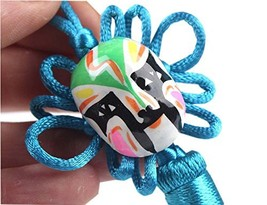 PANDA SUPERSTORE 2 Pieces Creative Car Ornaments Chinese Knot Pendant, Blue image 2