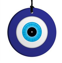 Evil Eye 10CM Ceramic Wall Hanging Lucky Kaballah judaica Jewish - $19.70