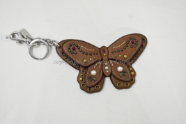 Coach F58996 /F58997 Studded Leather Butterfly Keyring/Key-Clip/ Bag Charm Brown image 7