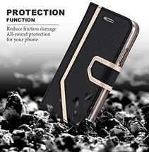 iPhone X Case Wallet RFID Blocking Makeup Mirror Premium PU Leather Edi... - $33.62