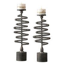 Uttermost 2-Pc Candle Holder Set in Antiqued Silver - $272.80