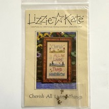 Lizzie Kate Cherish All Living Things #081 Cross Stitch Pattern With Charms - $7.92