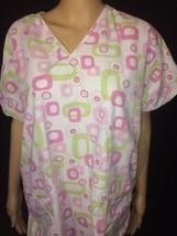 Sierra Scrubs Womens Scrubs Pink And Green Bin #52 - $9.04