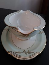 Vintage Gravy Boat Attached Plate Noritake China Made In Japan #5286 Alice Patte image 2