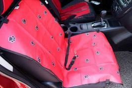 PANDA SUPERSTORE Paw Print Waterproof Solid Color Single Seat Dog Car Seat Cover