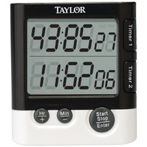 Taylor(R) Precision Products 5828 Dual-Event Digital Timer/Clock - $25.99
