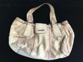 Calvin Klein Handbag Purse Leather Snakeskin Design - $69.25