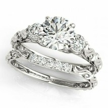 14K White Gold Over 1.40 Ct Round Diamond Engagement Wedding Bridal Ring... - $102.49